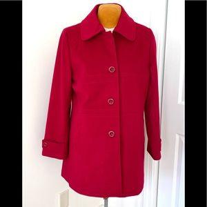 Lovely Cranberry Forecaster of Boston Wool Coat 12
